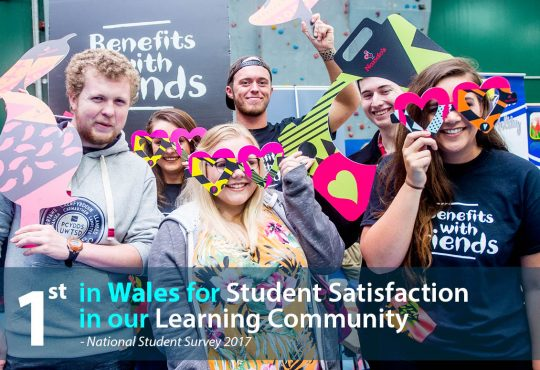 1st in wales for learning community (NSS 2017)