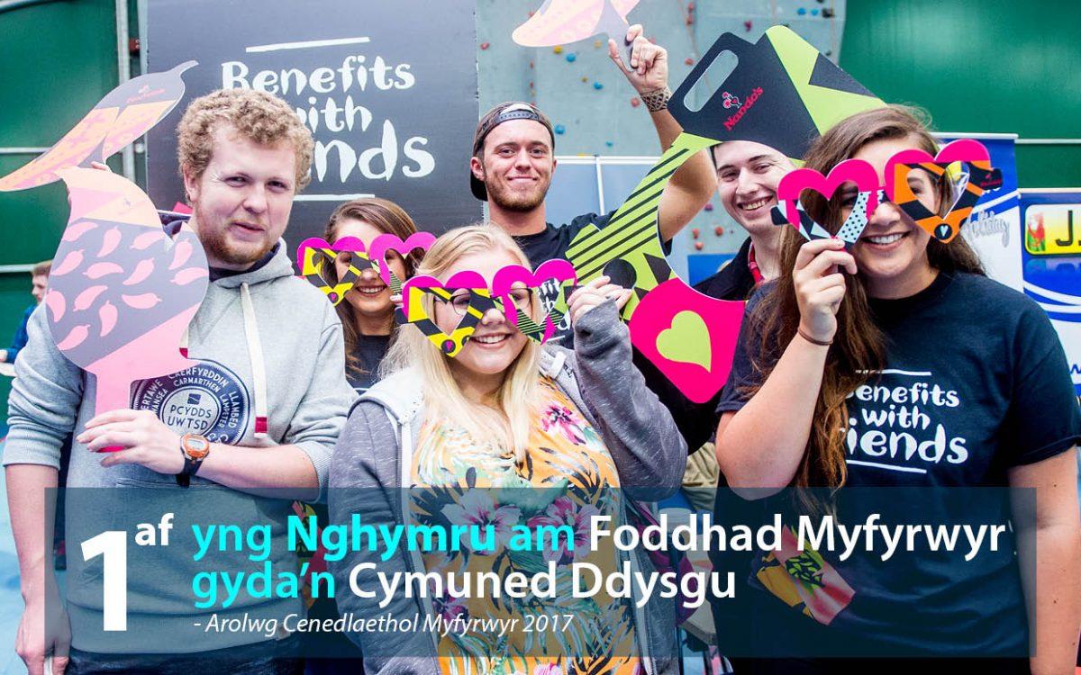 1af yng Nghymru am Foddhad Myfyrwyr gyda'n Cymuned Ddysgu (ACM 2017)