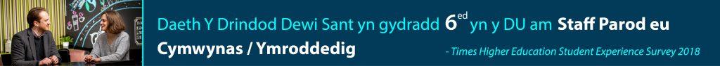 Daeth Y Drindod Dewi Sant yn gydradd 6ed yn y DU am Staff Parod eu Cymwynas / Ymroddedig