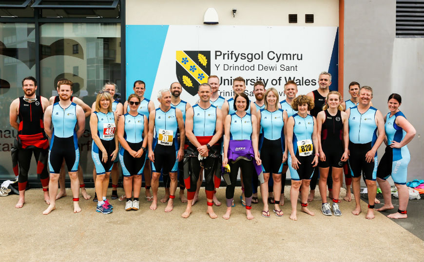 staff triathletes